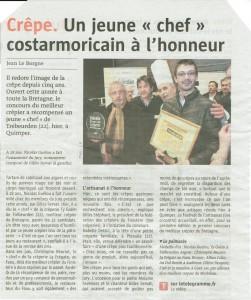 Article Télégramme Concours 2015